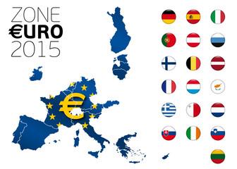 Zone Euro 2015 avec la Lituanie