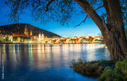 canvas print picture Heidelberg im Winter