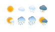 Weather icon set for web sites