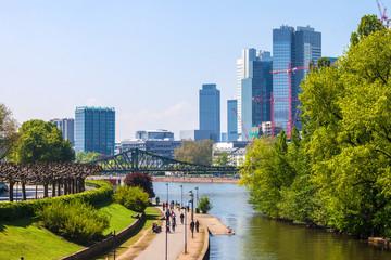 City skyline in Frankfurt, Germany