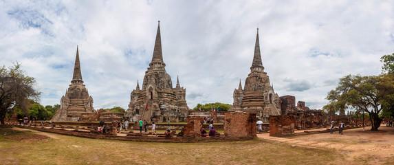 Famous Wat Phra Sri Sanphet temple in Ayutthaya
