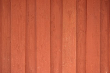 Falun red wooden wall