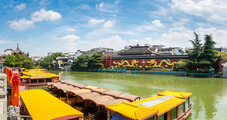 a panoramic view of nanjing confucius temple