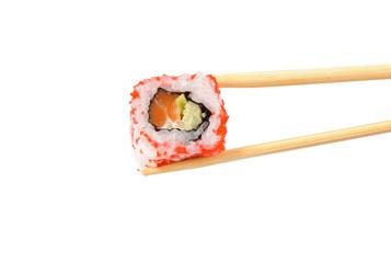 Sushi on a light background