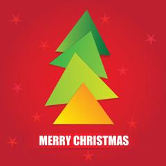 The simple geometric triangle form Christmas tree