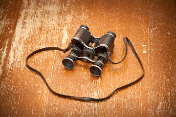 Victory Day on May 9. Military binoculars, vintage style