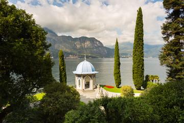 Tea house on the shore of Lake Como, Italy