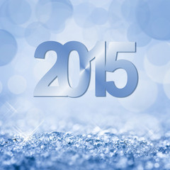 2015 snow and bokeh square background
