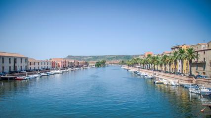 Bosa e il fiume Temo in Sardegna