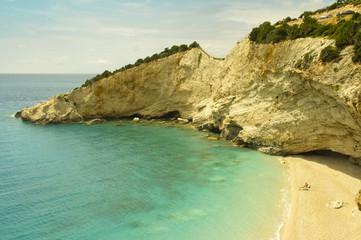 mediterranean cliffs and beach