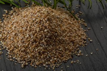 Crusted pearl barley