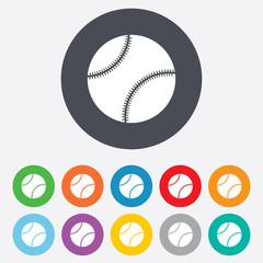 Baseball ball sign icon. Sport symbol.