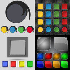 Big set of different colored buttons. Trendy, modern design for