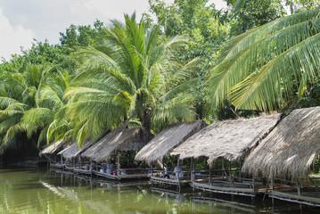 lakeside bamboo shack restaurant near phnom penh cambodia