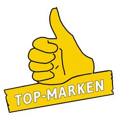 tus72 ThumbUpSign tus-v11 Daumen hoch - Top-Marken - gelb g2172