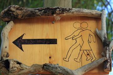 Affiche en bois