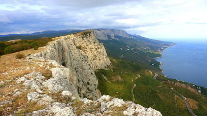 View from Foros's rocks to the Black Sea,  Crimea