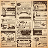 Fototapety wizarding newspaper with classifieds
