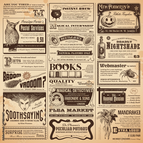 wizarding newspaper with classifieds - 71956667
