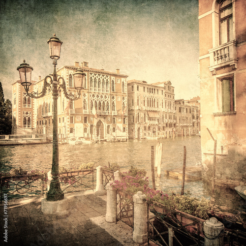 Vintage image of Grand Canal, Venice - 71956697
