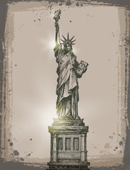 Statue of Liberty. Vector format
