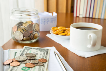 Saving money and coffee break