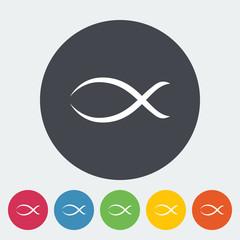 Fish single icon.