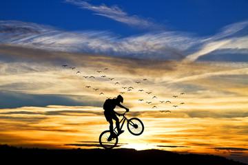 enseñando la bici al sol