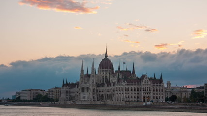 Parliament  in Budapest early in morning , Hungary