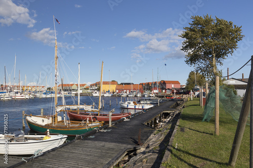 canvas print picture Rudkøbing Hafen