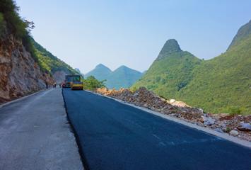 Strassenbau in China