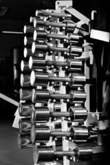 chromium-plated dumbbells