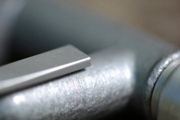 close up metal details