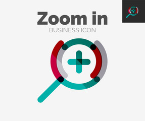 Minimal line design logo, zoom icon