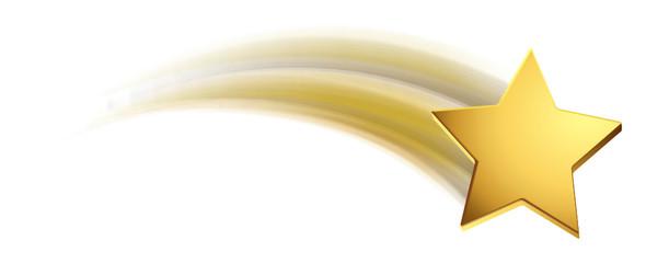 Sternschnuppe - Gold