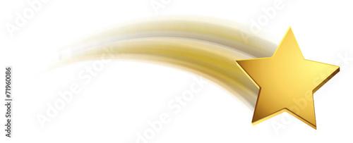 Fototapeta Sternschnuppe - Gold