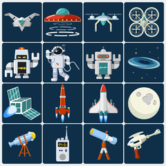 Space Flat Icon Set