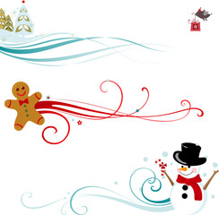 Christmas Scroll Design
