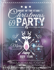 Christmas Party Flyer for Club and Disco events.
