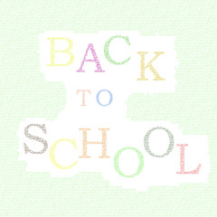 """Inscription """"Back to School"""" painted colorful letters"""