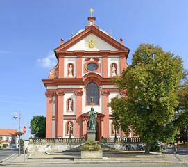 Stara Boleslav, pilgrim Church of the Assumption of Virgin Mary