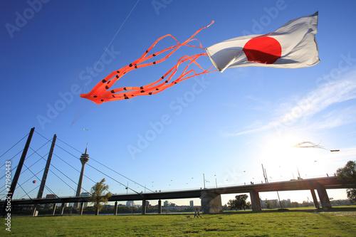 Leinwanddruck Bild Japan am Rhein
