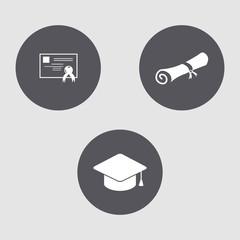 Mini set of educational icons.