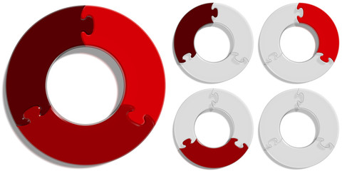 Circle Puzzle 03 - Red