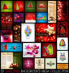 25 Christmas background MEGA collection set.