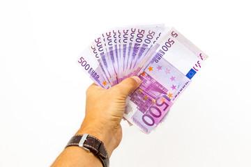 500 Euro Scheine in der Hand
