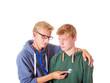 Teenager mit Herzklopfen
