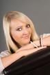 canvas print picture - Portrait einer Frau mit blonden Haaren