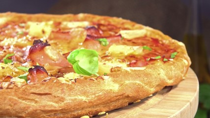 Ham and Pineapple Pizza (seamless loopable)