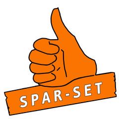 tus89 ThumbUpSign tus-v14 Daumen hoch Spar-Set - orange g2189